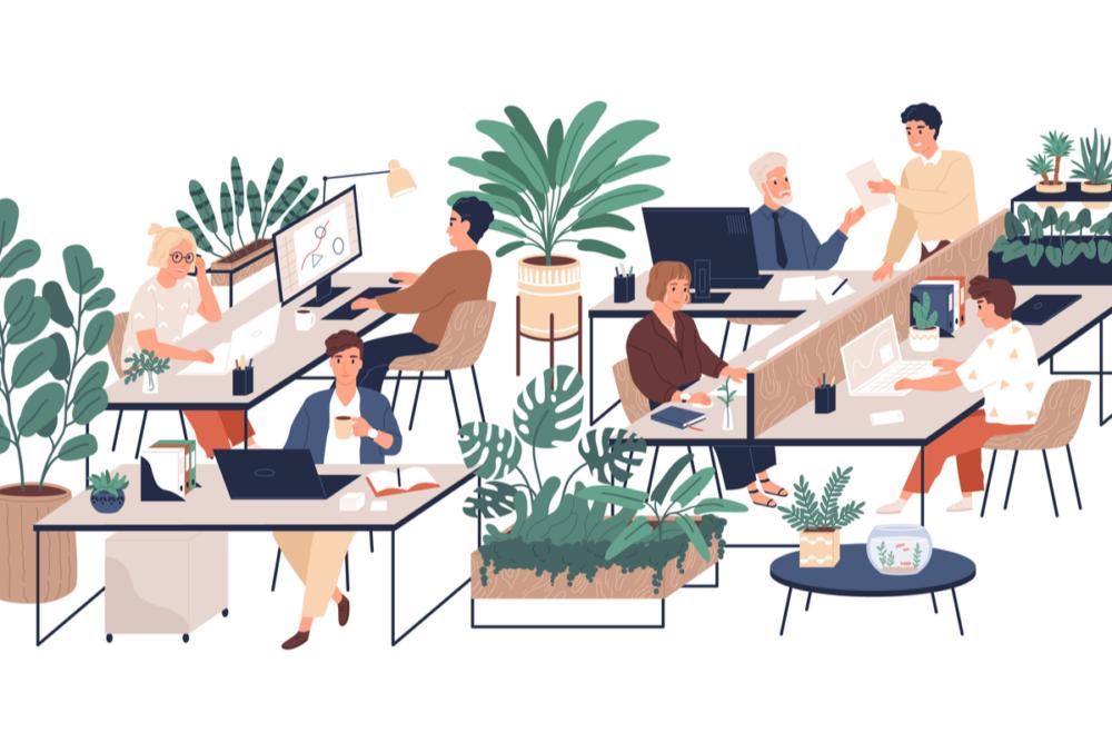 経理・総務が業務効率化ツールを活用している様子